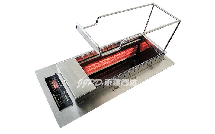 石英管加热无烟自动翻转电烤炉